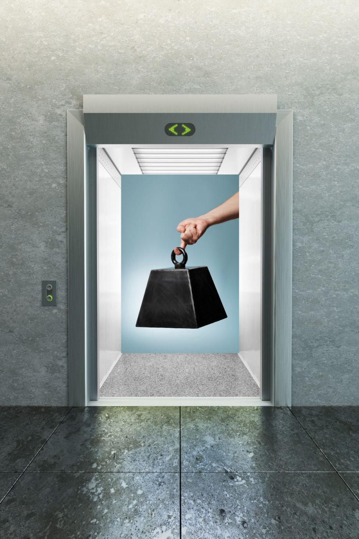 ascensor elevador gravedad