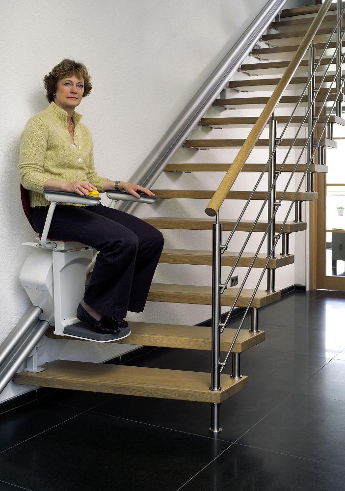 silla subescaleras ahorro espacio