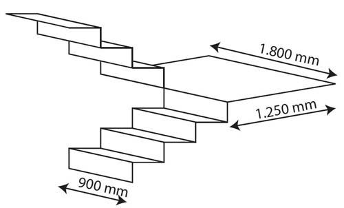 Chenille monte escalier sa 2 enier - Medidas de escaleras interiores ...
