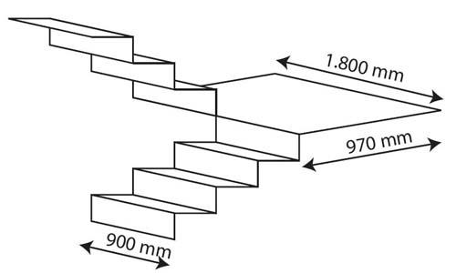Oruga subeescaleras sa s enier for Dimensiones de escaleras