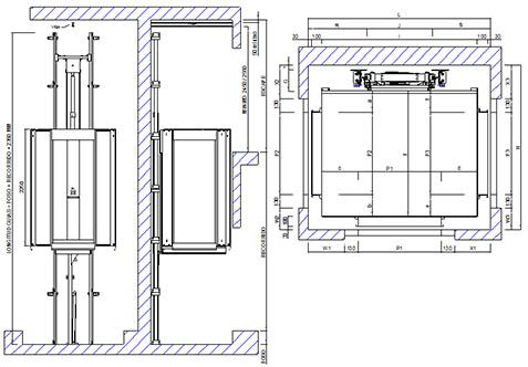medidas de un elevador para 12 personas medidas de