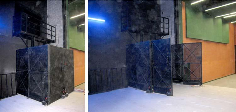 plataforma elevadora MPH con cerramiento móvil