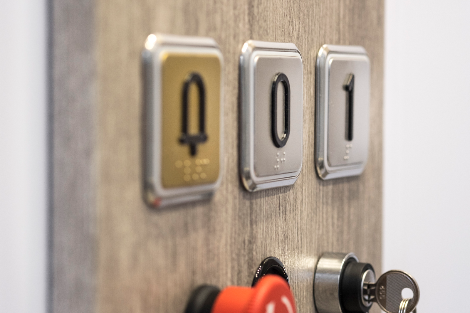Botones elevadores verticales